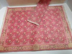 Vintage Keshiskian Collection Matching Runner Area Rugs Dollhouse Miniature 1:12