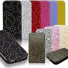 Bolsa de teléfono móvil Sony Xperia funda protectora brillo flip cover cartera case plegable, estuche, protección