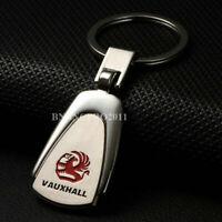 Car Logo Titanium Key Chain Car Keychain Ring Keyfob Metal Keyrings for Vauxhall