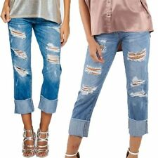 Unbranded Boyfriend Distressed Jeans for Women