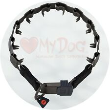 "Herm Sprenger Black Stainless Steel Neck Tech Sport Buckle Prong Collar 48cm/19"""
