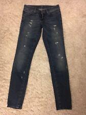 7 Seven For All Mankind Olivya 27 Jeans Skinny Ripped Blau