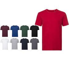 T-Shirt Bio Manches Courtes en Coton Organique T-Shirt Col Rond Slim Fit Uni