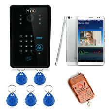 WiFi Remote Video Camera Door Phone Rainproof Doorbell Code+ID Acesss control