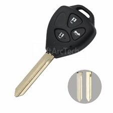 Replacement Key Shell fit for TOYOTA Corolla RAV4 Hilux Supra Remote Key Fob 3 B
