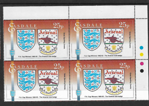 1992/3 ARSENAL - FA CUP WINNERS - CLUB BADGE - BLOCK WITH INSCRIPTIONS - MNH.