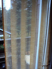3 Schiebevorhänge Flächenvorhang Raumteiler mit Paneelwagen gelb B/H 57 x 225