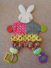 amazing baby bunny rabbit soft toy baby comforter activity toy