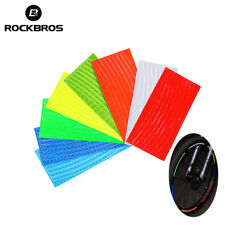 RockBros DIY Reflective Fluorescent Bicycle Strap Wheel Rim Sticker Decals 6pcs