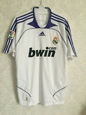 Rare 2007-2008 Real Madrid Home Jersey White By Adidas Mens Size L Bwin
