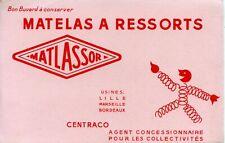 BUVARD PUBLICITAIRE // MATELAS A RESSORTS / MATLASSOR / CENTRACO