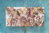 "Painting Acrylic Original Fluid Art on Canvas 10"" X 20"" Home Decor Wall"