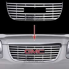 2007-14 GMC Yukon SLE SLT CHROME Snap On Grille Overlay Front Grill Cover Insert