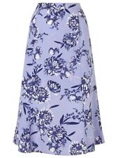 """EASTEX LADIES LINED ALINE WISTERIA SKIRT LILAC FLORAL SIZES 10-20 28"""" LENGTH"""