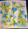 Vintage Vera Neumann Silk Scarf Blue Thistle