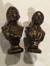 Holland Mold SALTY DOG And SEA HAG CERAMIC BUSTS Old Man and Woman - Bronze Look