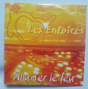 LES ENFOIRÉS (reprise JOHNNY HALLYDAY) ♦ CD PROMO NEUF ♦ ALLUMER LE FEU (ZAZIE)