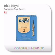 Rico Royal Soprano Saxophone Reed 2 Strength - 10 Pack Box Reeds