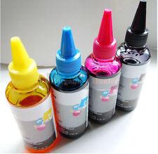 4 x 100ml Compatible Dye Refill Ink Set pour Canon Cartouches Rechargeables CISS