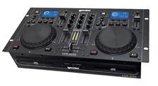 Gemini Cdm-4000 Twin Dual CD Mp3 USB Media Player 2 Channel DJ Scratch Mixer