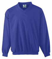 Augusta Sportswear Men's V Neck Collar Long Sleeve Lined Windshirt. 3415