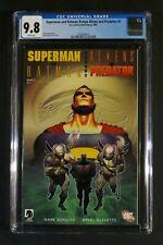 SUPERMAN AND BATMAN VERSUS ALIENS AND PREDATOR #1 & 2 CGC 9.8 DC Dark Horse 2007