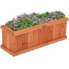 New Wooden Garden Planter Window Box Flower Herb Yard Patio
