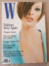 W Magazine June 1995 Linda Evangelista Timothy Hutton
