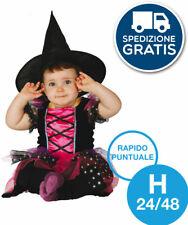 costume strega bambina streghetta witch HALLOWEEN carnevale travestimento