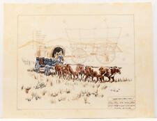 Vintage original PAUL GEYGAN 1800s Country Schooner 1978 Lithograph SIGNED #23