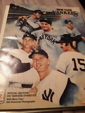 1985 New York Yankees Yearbook, Official Vintage Baseball Great Condition
