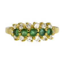18 Carat Cluster Yellow Gold Fine Gemstone Rings