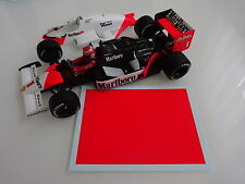 McLaren Spare Decal Sheet for Lauda Prost Senna Berger - Rear Wing 1/18 1/43