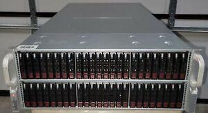 SuperMicro 4U CSE-417 Server Chassis JBOD w/ 72x 2.5 Bays SAS2, 2x PSU, Rails