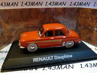 RE77G Voiture 1/43 ATLAS NOREV : Renault Dauphine rouge