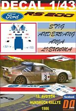 DECAL 1/43 FORD RS200 S.ANDERVANG HUNSRUCK R 1986. 1986 2nd (03)