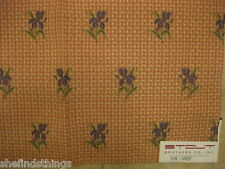 Floral Embroidered Lampas Gingham Check Stout Myra Designer Fabric Sample