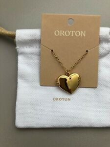 OROTON GOLD LUCY HEART LOCKET BRAND NEW WITH TAGS