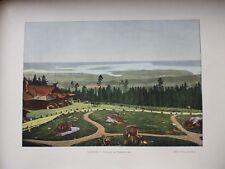 SUEDE/NORVEGE:Gravure 19°in folio couleur/ Vue du HOLMENKOLLEN