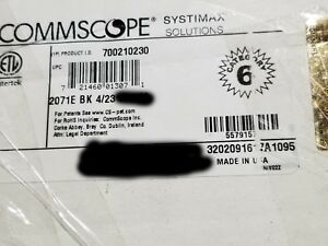 Commscope 2071E 23/4P Cat6 Gigaspeed XL U/UTP Plenum Network Cable Black /100ft