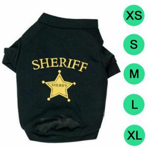 Dog Cat Vest SHERIFF Star Puppy T-Shirt Coat Pet Clothes Summer Apparel Costumes