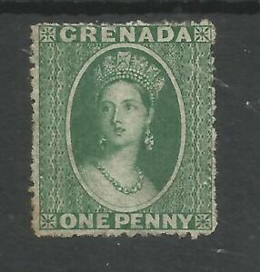 GRENADA SG 4 THE 1864 QV 1d GREEN UNUSED CAT £110