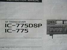 ICOM-775DSP (GENUINE INSTRUCTION MANUAL ONLY)..........RADIO_TRADER_IRELAND.