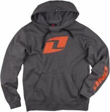 ONE Industries Icon Gray Orange Motocross Dirtbike Pullover Sweatshirt Hoodie XL