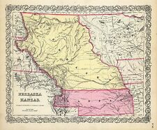 Nebraska 133 maps state genealogy History teaching aid atlas old Panoramic Dvd