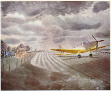 WWII Fairey Battle aircraft Ravilious ready mounted antique print 1945 SUPERB