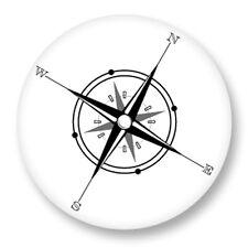 """Pin Button Badge Ø25mm 1"""" Boussole Compas Instrument De Navigation Direction"""