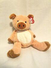 Ty Pluffies Pig CORKSCREW 2002 Retired Piggy Stuffed Animal Floppy