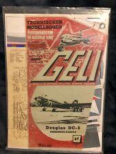 Geli Modellbogen Verkehrsflugzeug Douglas DC-3  Nr.37 1:33 Sealed