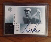 Nick Price 2001 Upper Deck SP Authentic Sign of The Times Auto